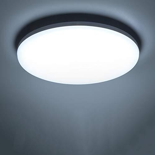 Yafido LED Plafoniera 36W Ultra magro UFO Pannello LED Rotondo Bianco Freddo 6500K 3240LM Lampada da Soffitto per Soggiorno Camera da letto Bagno Cucina Corridoio e Balcone Ø23cm