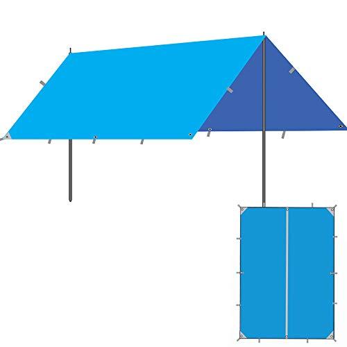 Roboraty Sun Sail Shade, toldo con Dosel para jardín al Aire Libre, Refugio para Eventos Gazebo, Refugio Solar portátil con protección Solar,5~8 People,B-3x3m(9.8x9.8ft)