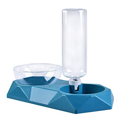 Queta Automatischer Futter und Wasserspender für Katzen und Hunde, 2 in 1 Automatischer Futterspender & Wassertränker im Set für Kleintiere,Hund (Grün)