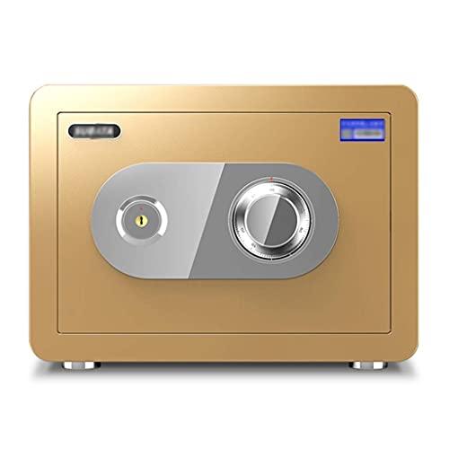 Caja de seguridad mejorada, caja fuerte de gabinete, cerradura con llave, caja de depósito con cerradura mecánica, caja fuerte ignífuga de gran capacidad con llave para el hogar Incluye 2 llaves de em