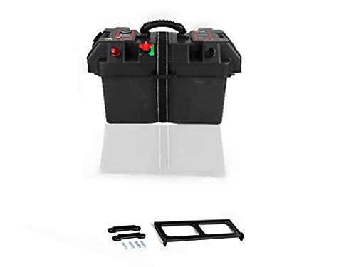 Stazione di alimentazione motore, Akozon plastica Minnkota Trolling Stazione di alimentazione centro motore Scatola batteria Porta USB e caricabatterie 12V