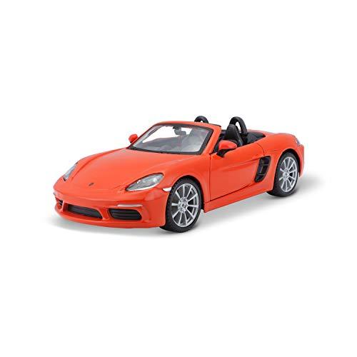 Bburago-Porsche 718 en Color Naranja en Escala 1:24 (18-21087OR)