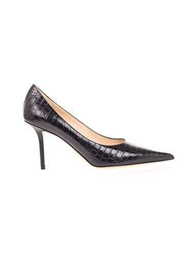 JIMMY CHOO Luxury Fashion Damen LOVE85CCLBLACK Schwarz Leder Pumps | Herbst Winter 20