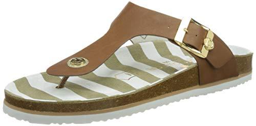 Tom Tailor Damen 1193402 Flache Sandale, Camel, 43 EU