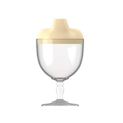 TSMALL Copa para niños, Vino de plástico, Copa para bebé, Fiesta, Vasos sin derrames, Taza para Bebidas, Botella de Leche con Tapa