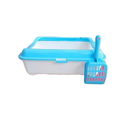 Inodoro de Bandeja para Perros Caja de la litera del gato del ahorro de espacio con el portador impermeable de la litera del animal doméstico de la cucharada para interior Pad de entrenamiento portáti