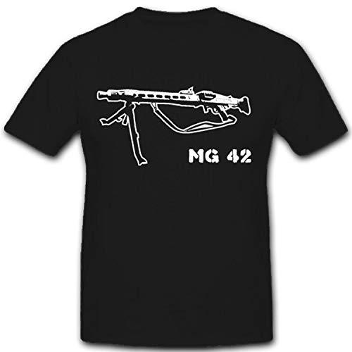 MG42universal de Rifle Modelo 42Wh Wk Arma–Camiseta # 2079 negro XX-Large