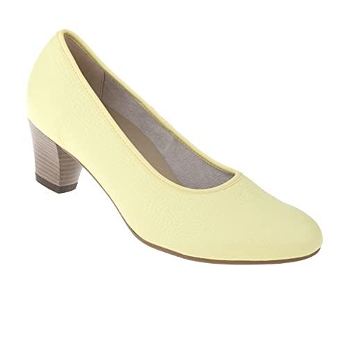 Natural Feet Damen Pumps Cathrin | Echtes Hirschleder | Weite H | Hallux geeignet 38 gelb