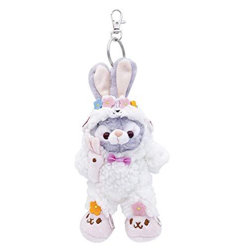Wusuowei Flauschiger Kaninchen Schlüsselanhänger niedlicher Kaninchen Handtasche Anhänger Schlüsselanhänger weicher Plüsch Charm Ba