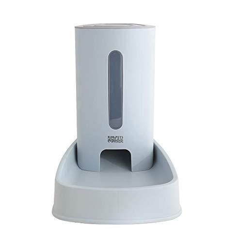 JUNGEN 3.8L Bebedero y Comedero Automático para Gatos y Perros Fuente de Agua Alimentador Automático para Mascotas (Azul)