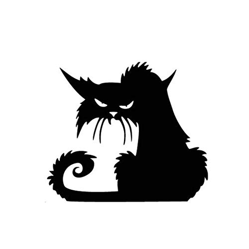 Sannysis Halloween Aufkleber Schwarze Katze Fenstersticker Wandtattoo Wandaufkleber Wandsticker Wanddekoration Hexe Leuchtet Fledermaus Spinnen Muster Gothic Home Deko (13 x 11 CM, D Schwarz)