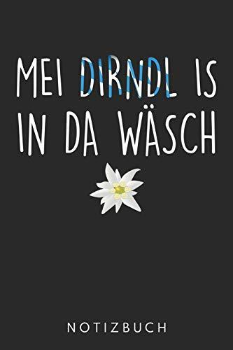 Mei Dirndl Is In Da Wäsch: Din A5 Heft (Kariert) Mit Karos Dirndl Tracht | Notizbuch Tagebuch Planer Für Dirndl Tracht | Notiz Buch Geschenk Journal Bayern Bayerin Bayrisch Notebook