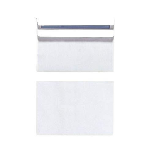 Herlitz 11285178 Briefumschlag C6, selbstklebend ohne Fenster, 1000 Stück