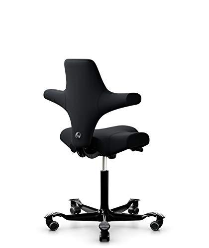 HÅG Capisco 8106 Drehstuhl, schwarz Stoff Xtreme Gestell silber lackiert