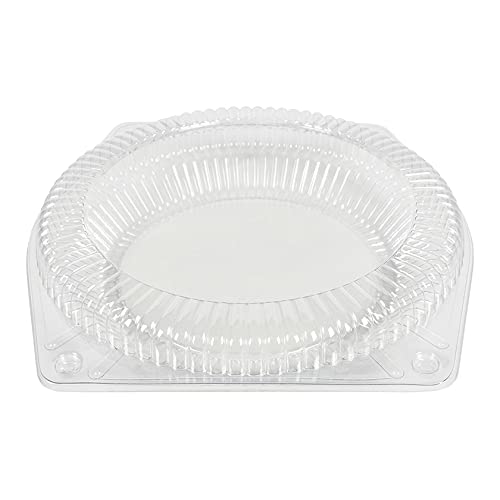 Wow Plastics Inc. Hinged Pie Container - Tall - 200/Case