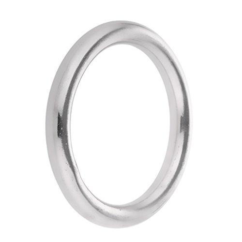 Polished Metal O Rings Stainless Steel Rings - 40mm 50mm 60mm 70mm 80mm 100mm Diameters - Silver, 7 x 40mm