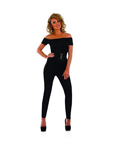 Fun Shack Schwarzes Musical Catsuit Kostüm für Damen, Halloween und Karneval - XL