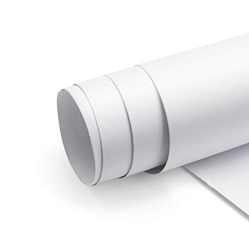 40*300CM Möbelfolie Verdickte Selbstklebende Folie mit Gas-Führungsnut Weiß Matt, PVC Dekorfolie Klebefolie Wasserdicht Möbel Sticker für die Küche Schlafzimmer Wand
