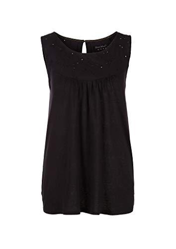 s.Oliver Damen 120.10.004.12.102.2039038 T-Shirt, Black, 46