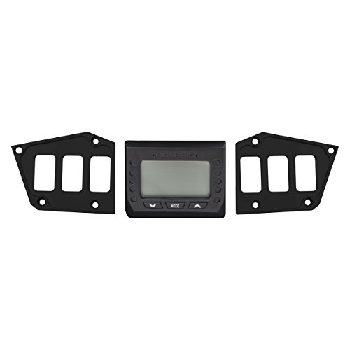 STVMotorsports SDP6GPS Custom Aluminum Dash Panel for 2017-2018 Polaris RZR XP Turbo Edition with GPS Display – Made 100% in USA (no switches Included) (Black)