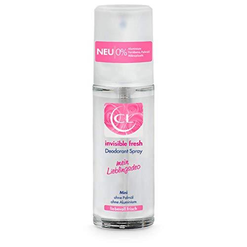 CL invisible fresh Deodorant Spray mit langanhaltendem Duft - 20 ml Deo Spray ohne Aluminium, Zink & Mikroplastik mit frischem Blütenduft - veganes Deo Damen ohne weiße Flecken - Deodorant Frauen