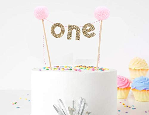 One Cake Topper Max 45% New mail order OFF for 1st Birthday - First Decoratio
