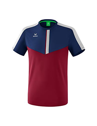 Erima Kinder Squad Funktions T-Shirt, New Navy/Bordeaux/Silver Grey, 128