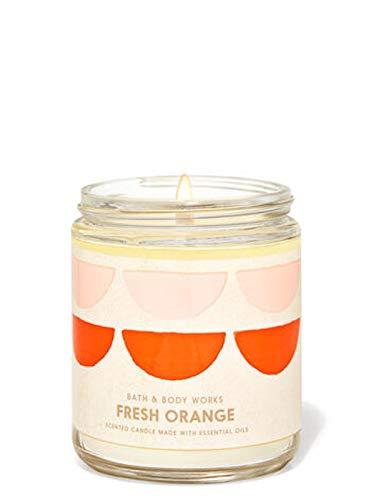 White Barn Bath and Body Works Fresh Orange Single Wick Candle 7oz