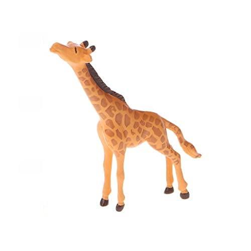 yangfr Miniature Décorations de Jardin, résine Paysage Décoration, résine de Simulation Girafe Miniature Ornement Jardin Figurines Dollhouse Decor, Marron, S
