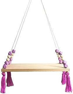 HUANGMENG Accessoires de Bricolage en Bois Massif Macaron octogonal Perle frangée Conseil Placement (Violet) (Couleur : Vi...