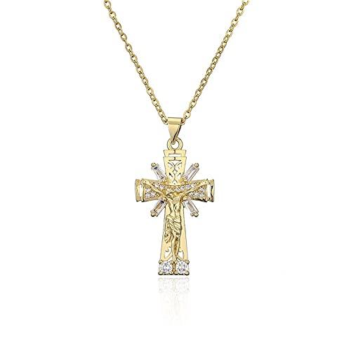 Collar clásico de lujo con colgante de Cruz Cz, cadena O para fiesta de boda para mujer, joyería romántica para el Día de San Valentín, regalos