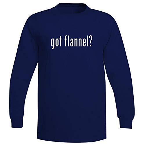 The Town Butler got Flannel? - A Soft & Comfortable Men's Long Sleeve T-Shirt, Blue, Medium