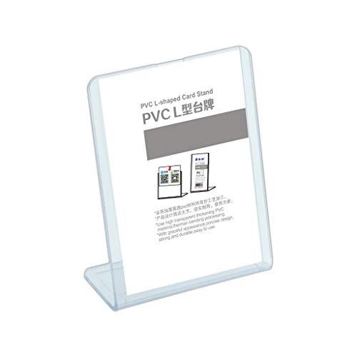 Juonjee PVC L-Form Pflegeständer, Tisch Desktop Display Board Preisschild Menü Mehrere Größen Preisliste Menü Display Board (Size : (A5) 148x210MM)