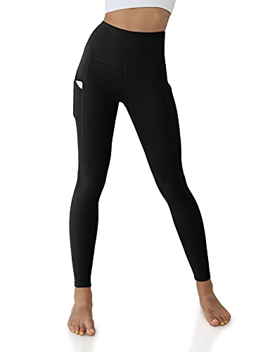 ODODOS Women's High Waisted Yoga Pants with Pocket, Workout Sports Running Athletic Pants with Pocket