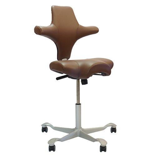 HAG Capisco 8106 Sattelsitz Bürostuhl in Paloma Tabacco Exclusiv Leder