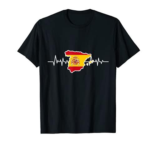 spanische Flagge Geschenk Herzschlag Spanien T-Shirt