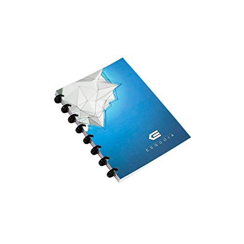 Whiteboard A5, trocken abwischbar, wiederverwendbar, 50 Blanko-Seiten, blauer Einband