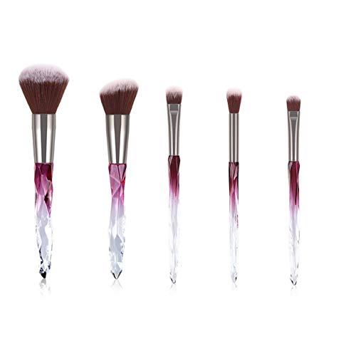 5 Pieces Makeup Brush Transparen...
