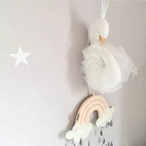 Odster - Nettes Liebes-3D Golden Crown Plüsch Swan Wall Art h ende Schwan Plüsch Puppe Plüschtiere Tiere Kopf-Wand-Dekor für Kinder mädchen Zimmer