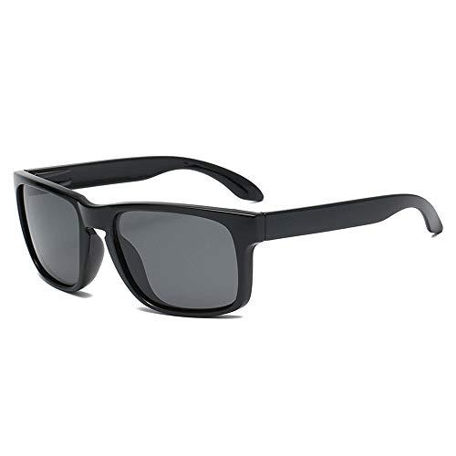 Gafas De Sol para Hombre Y Mujer Moda Polarizadas Gafas ProteccióN para ConduccióN Gafas De Deportes Al Aire Libre De Pesca De Moda Regalo de San Valentín (Color : Bright Black)