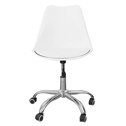 Zolta Ergonomischer Bürostuhl - Kunststoff Schreibtischstuhl - Höhenverstellbar Drehstuhl - Kunstleder Retro Design Stuhl - Bürosessel - Computerstuhl - Schreibtischsessel - Weiß