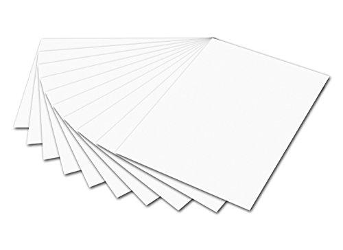 folia 6100 - Fotokarton Weiß, 50 x 70 cm, 300 g/qm, 10 Bogen - zum Basteln und kreativen Gestalten von Karten, Fensterbildern und für Scrapbooking