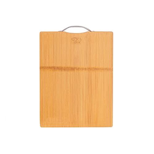 ZXCVB Tabla de Cortar de bambú para Tablero de Corte de Cocina con Mango de Metal con Almohadilla de pie Antideslizante Adecuada para Queso de Carne Vegetable y Fruta