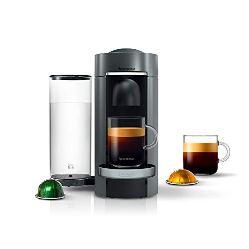 Nespresso VertuoPlus Deluxe Coffee and Espresso Maker by De'Longhi, Titan