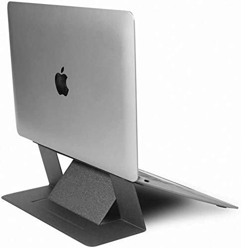 """Adhesive Invisible Feather Light Foldable Laptop Stand - The Worlds first'invisible' Laptop Stand (Compatible with laptops up to 15.6"""" ONLY) GREY"""