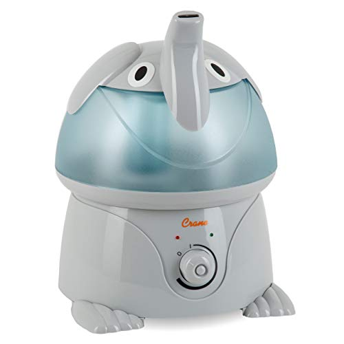 Crane USA Filter-Free Cool Mist Humidifiers for Kids, Elephant