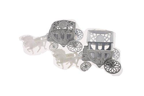 12 Cinderella Coach Wedding Carriage Favor Plastic - Silver