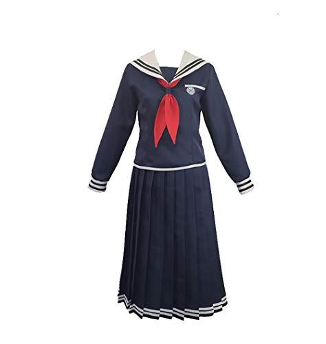 Cos-Animefly Anime Danganronpa Toko Fukawa Cosplay Kostüm Japanisches Schulmädchen Matrosenkleid Hemd Uniform komplettes Set - Schwarz - X-Large