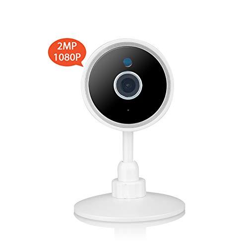 HD IP-camera, 1080P WiFi Camera Infrarood Nachtzicht Twee-weg Audio Bewegingsdetectie Alarm Mobiele Remote Monitoring Camera Eenvoudig te installeren 1080P Kleur: wit