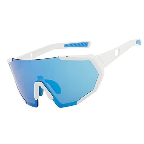 YHNY 2021 Nuevas Gafas de Sol de Ciclismo Colorido y de Moda, Traje Intercambiable, Espejo Deportivo a Prueba de Viento con Gafas polarizadas Type 2
